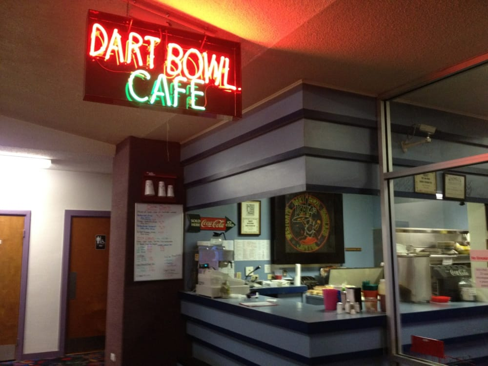 The Dart Bowl is an Austin institution! Linklater shot scenes for Boyhood there, and the cafe is famous for its enchiladas.  It's so inclusive, even aging white men with wacky headdresses are welcome there!