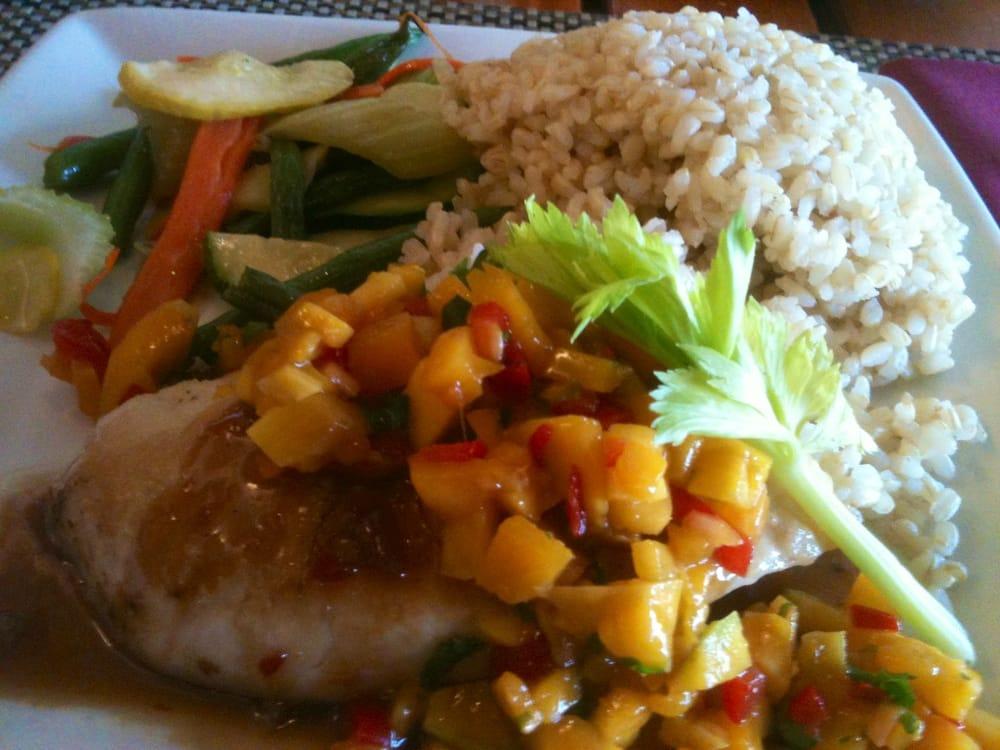 Opah with szechuan sauce and mango salsa tastes great yelp for Uncle s fish market grill