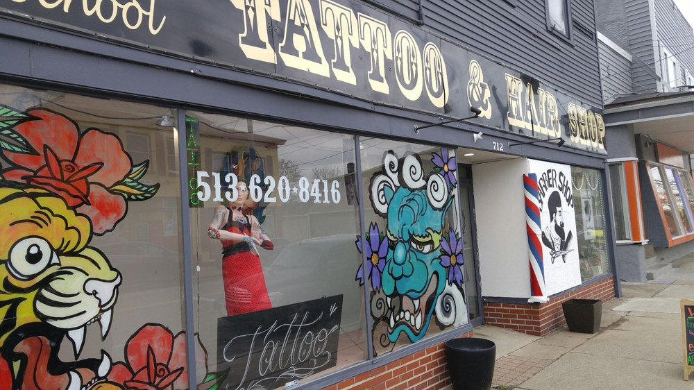 Lockland Old School Tattoo & Hair: 712 West Wyoming Ave, Wyoming, OH