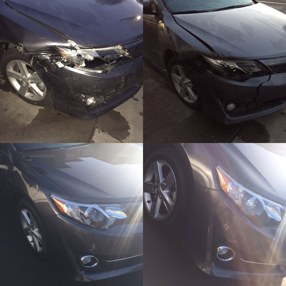 Before and after my car accident  - Yelp