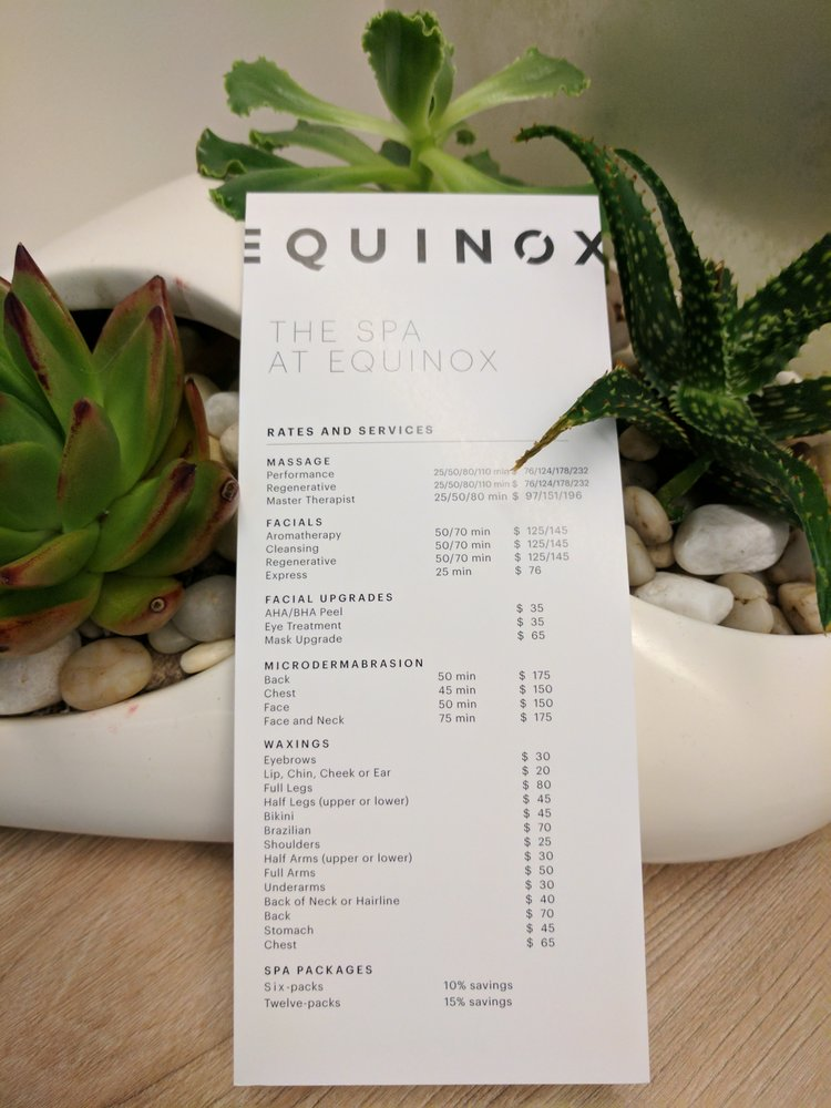 The SPA at Equinox: 112 S Lakeview Canyon Rd, Thousand Oaks, CA