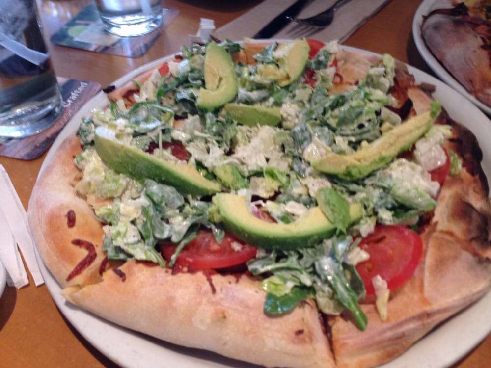 California Club Pizza Mm Avocado Slices Yelp