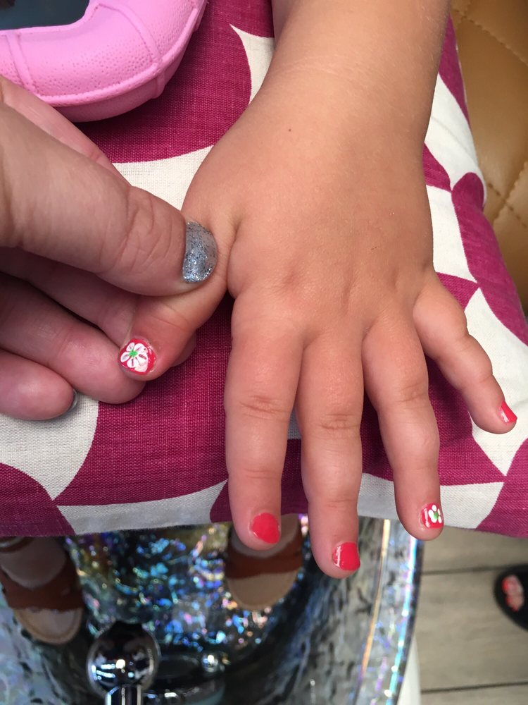 My 4-year-old daughter had a mani pedi, and the ladies did these ...
