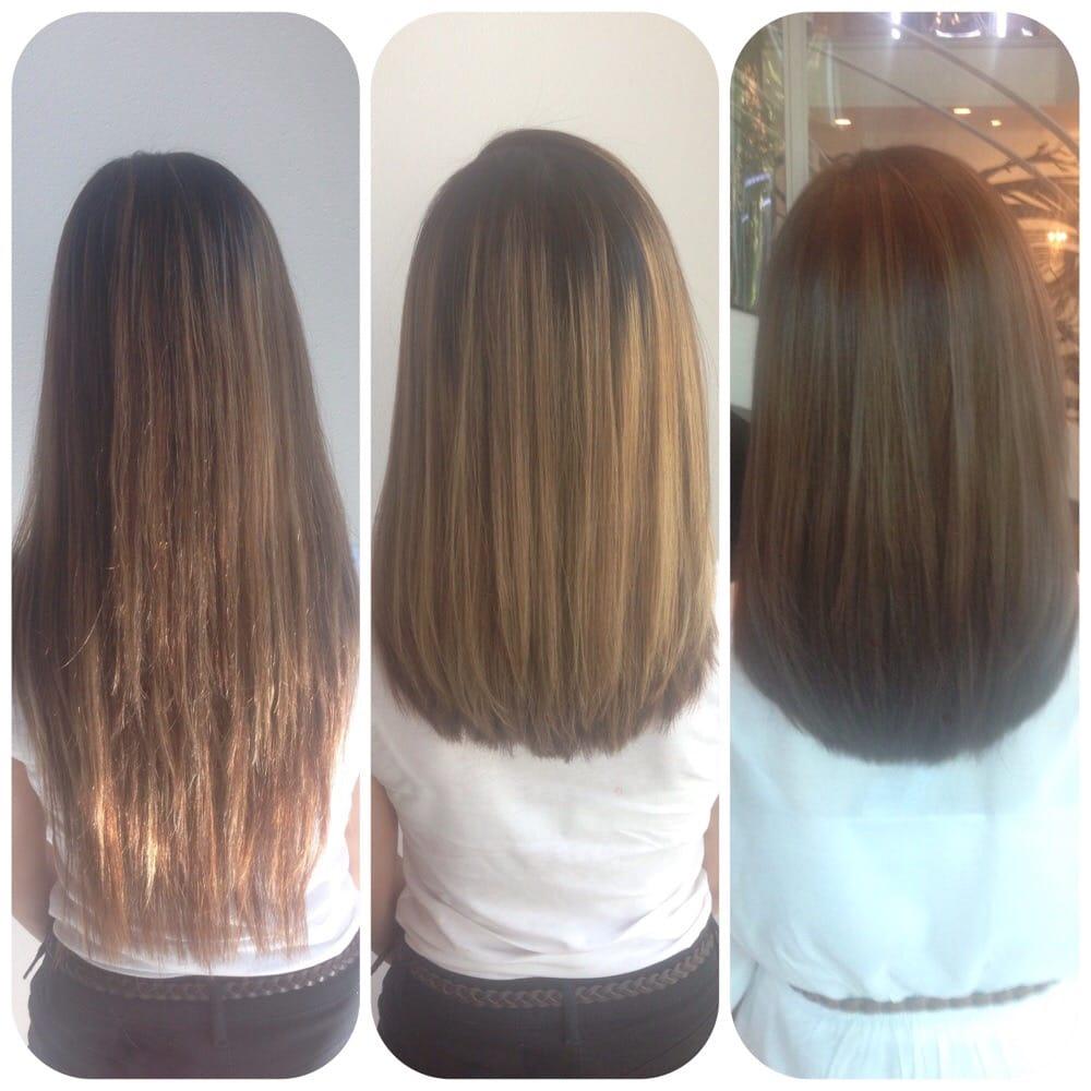 U Shaped Haircut For Medium Hair Before, before,...