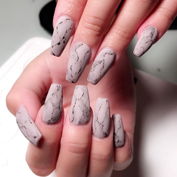 Marble matte nails - Yelp