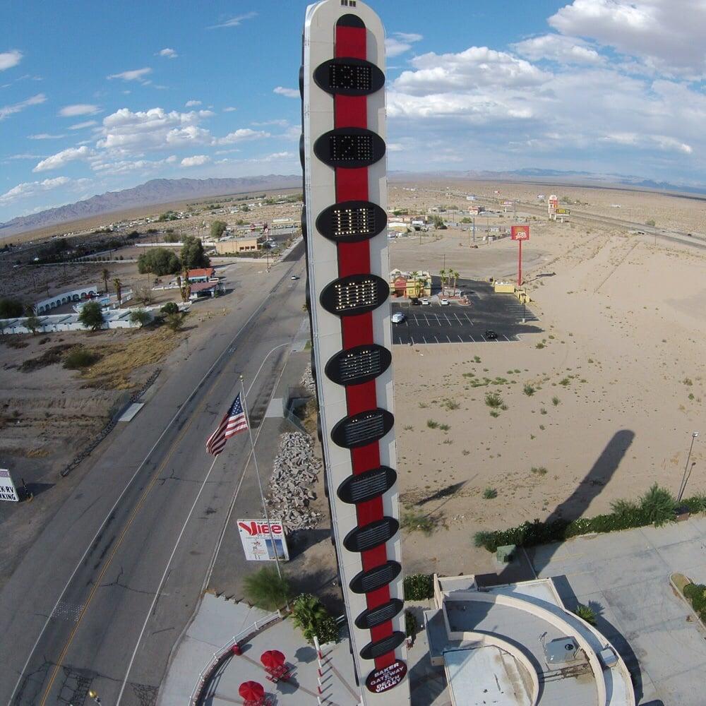 World's Tallest Thermometer: 72157 Baker Blvd, Baker, CA