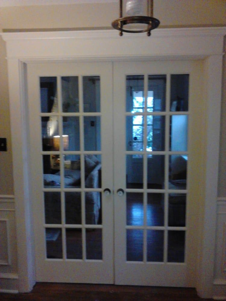 Interior french door installation door trim molding - Installing french doors interior ...