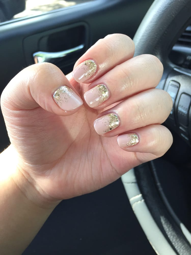 Two For Tiramisu Opi Gel Color With Gold Glitter Ombr 233 Yelp