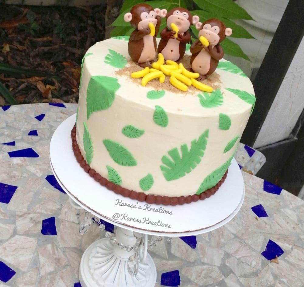 Monkey And Palm Tree Themed Cake Happy Birthday Doris Yelp