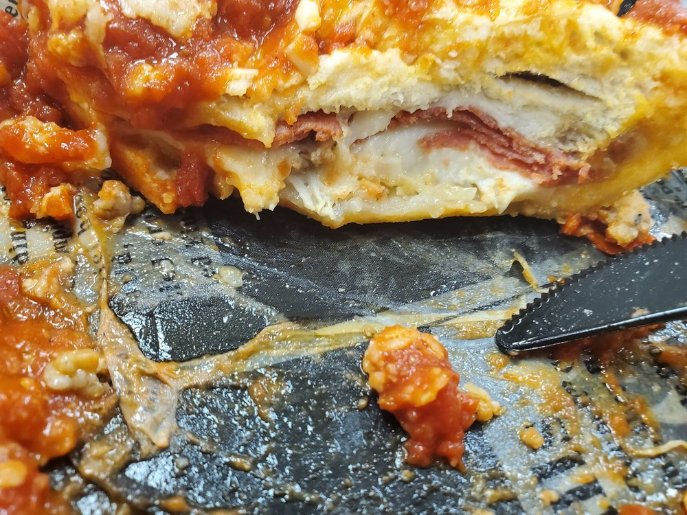 Food from Chicago City Pizza