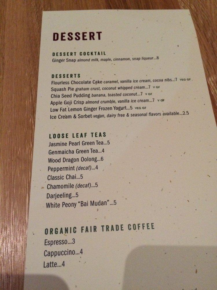 True Food Kitchen Menu dessert menu - yelp