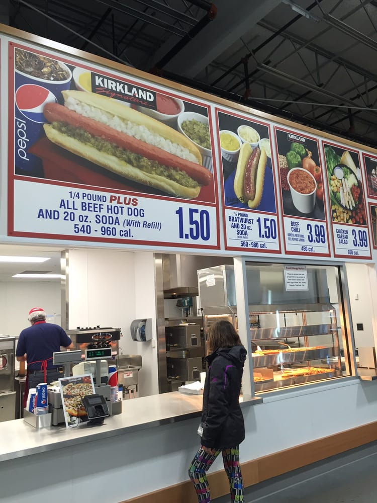 The Costco cafe - including the hot dog and soda combo for ...