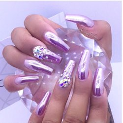 Photo Of Cly Claws Nail Studio Vancouver Bc Canada Chrome Art