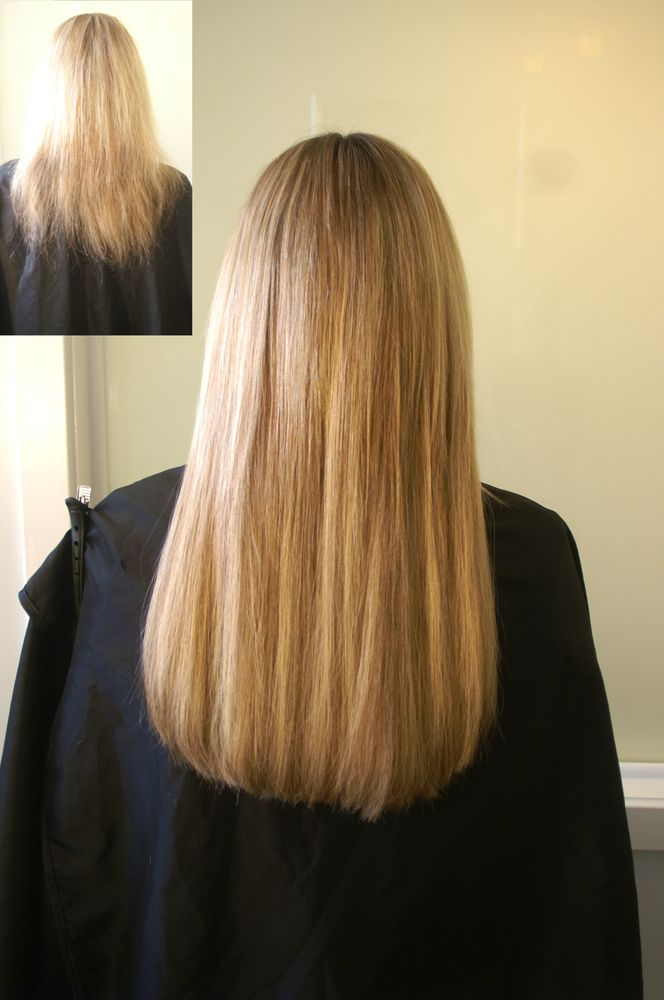 Hair Extension Before And After Applied By Areta And Chicago Hair