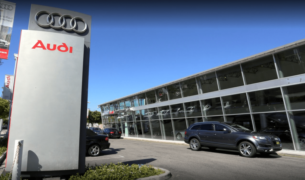 audi of downtown l.a. exterior - yelp