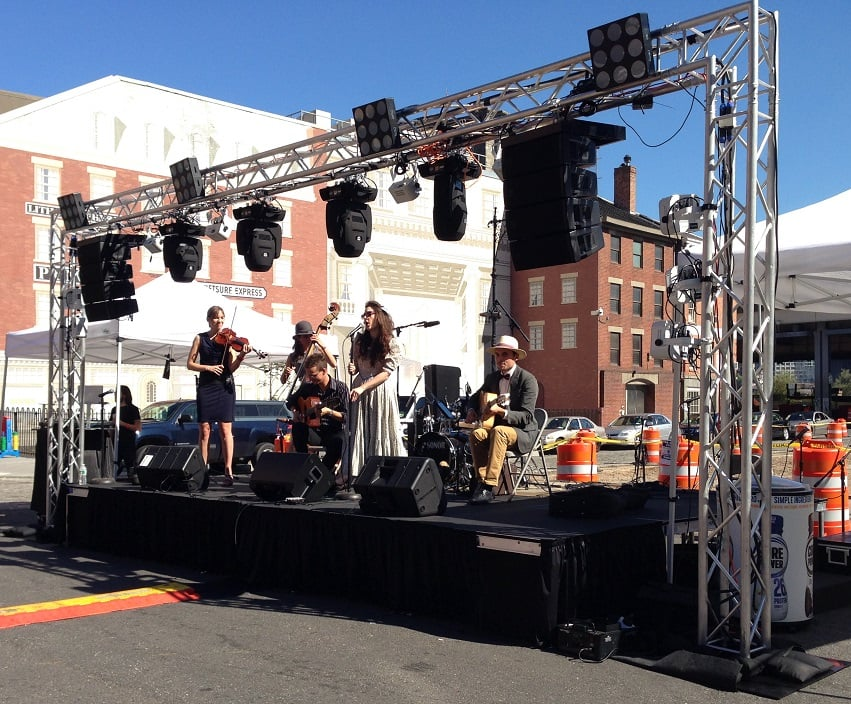 Outdoor Event Sound And Lighting Equipment Rental And