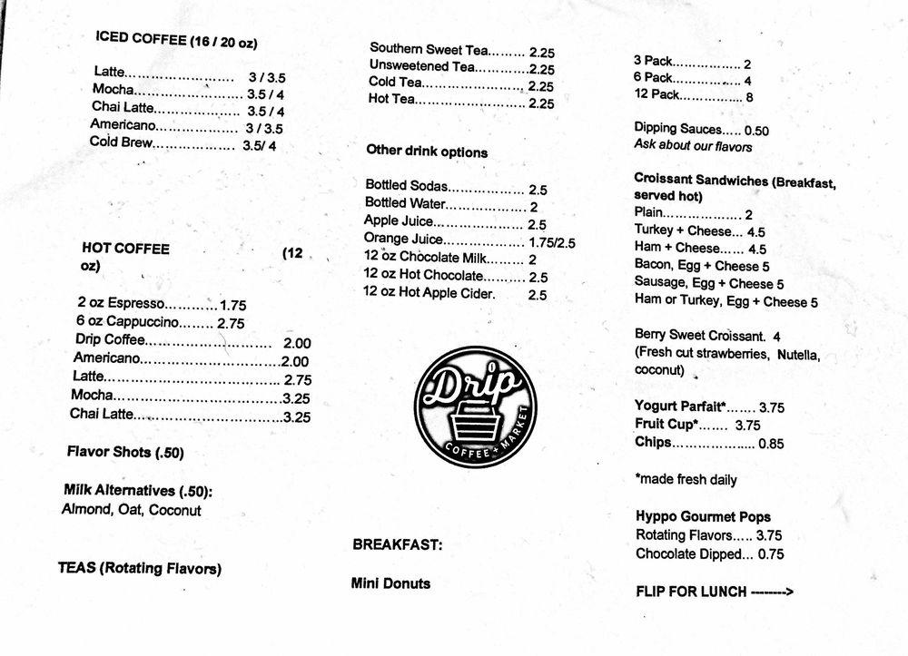 drip coffee + market: 108 S Main St, Warrenton, NC