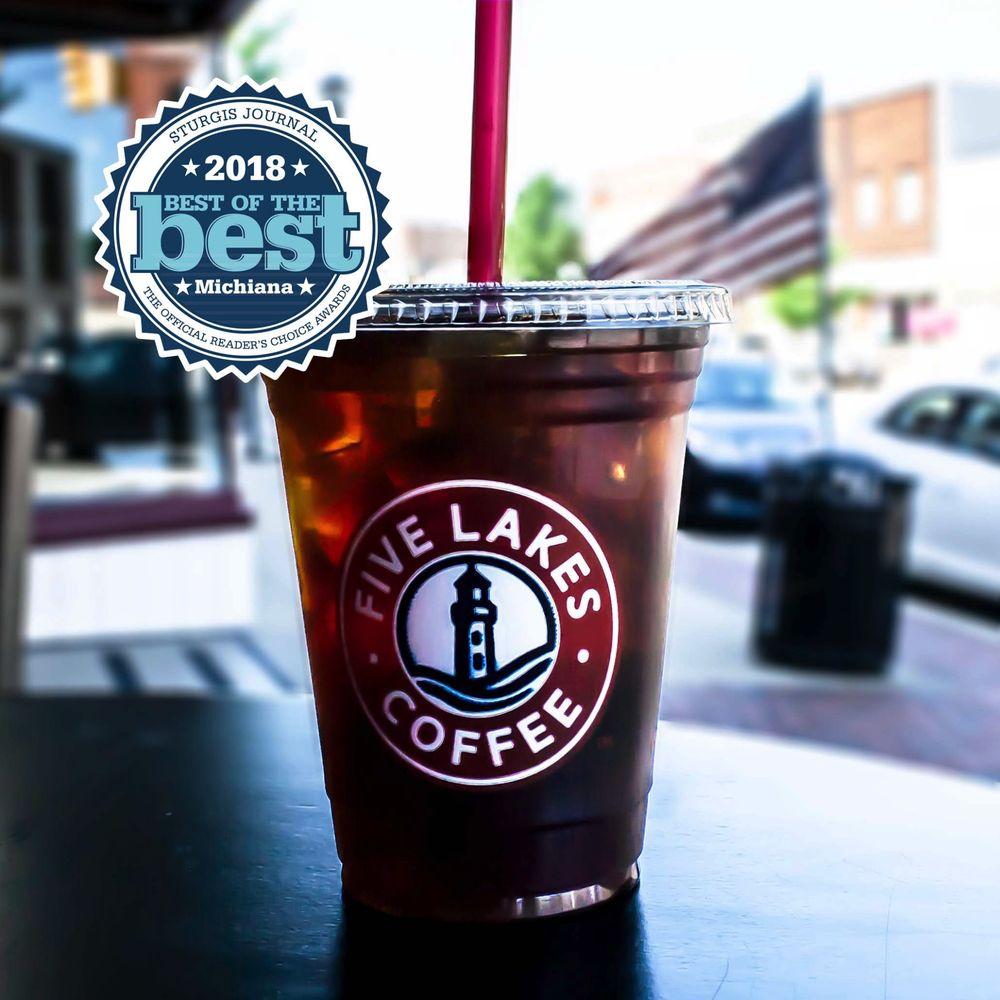 Five Lakes Coffee: 100 W Chicago Rd, Sturgis, MI