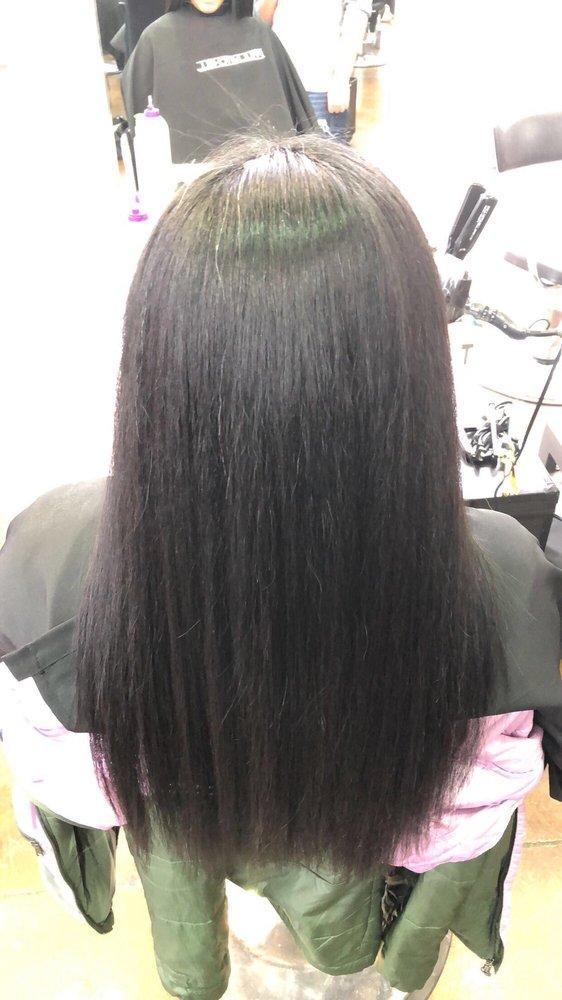 Hair flat ironed  - Yelp