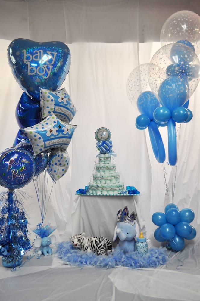 It 39 s a boy baby shower decorations yelp - Deco baby boy ...