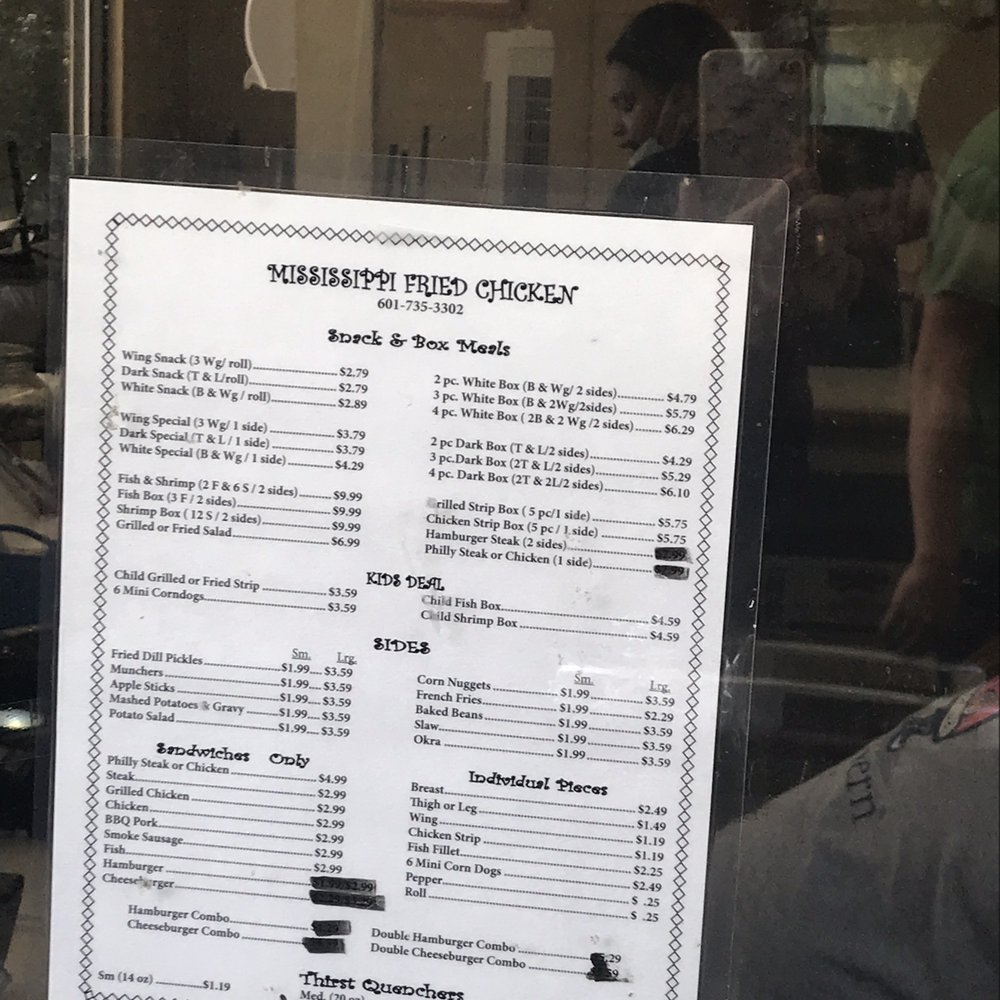 Mississippi Fried Chicken & Bar-B Que: 518 Mississippi Dr, Waynesboro, MS