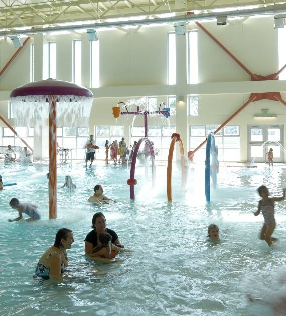 Kids can play and swim in our indoor pool yelp - Palo alto ymca swimming pool schedule ...