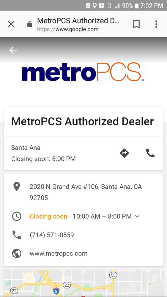 Metro Pcs Mobile Phones 2020 N Grand St Santa Ana Ca Phone