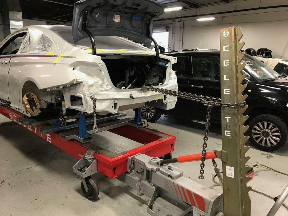Bmw m frame pull celette bench set up yelp for South motors bmw collision center