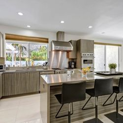 Elegant Photo Of California Kitchen Gallery   Sherman Oaks, CA, United States. Grey  Cabinets