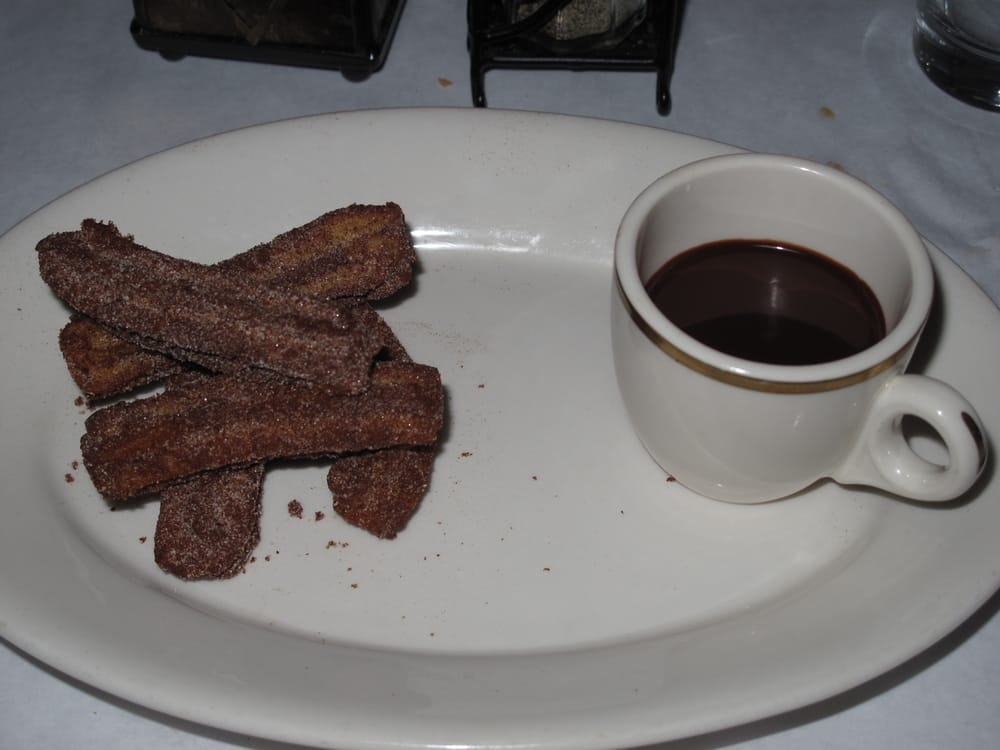 Churros - Spanish Doughnuts with Spicy Hot Chocolate. - Yelp