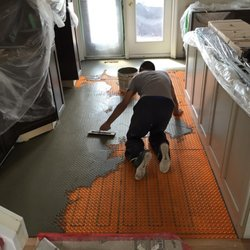 Photo Of The Tile Installations Specialists   Edmonton, AB, Canada. Ditra  Heat Membrane