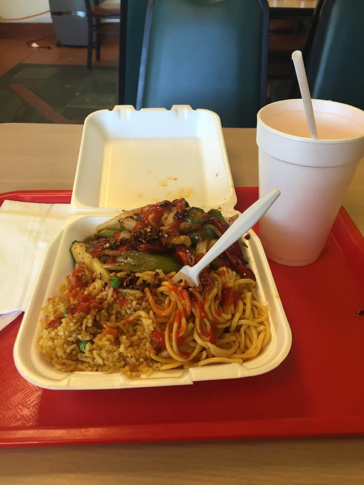 Pepper beef one item combo with drink yelp for Asian cuisine express