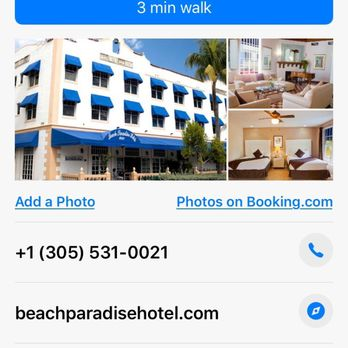 Photo Of Beach Paradise Hotel Miami Fl United States This Is
