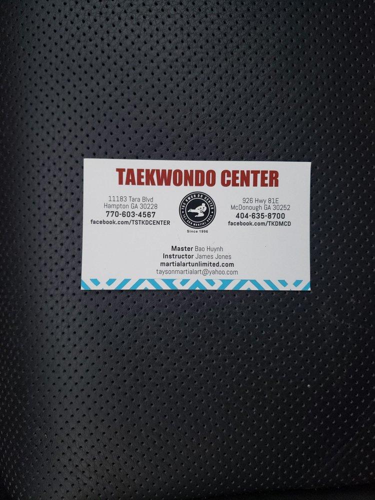 Tae Kwon Do Center: 11183 Tara blvd, Hampton, GA