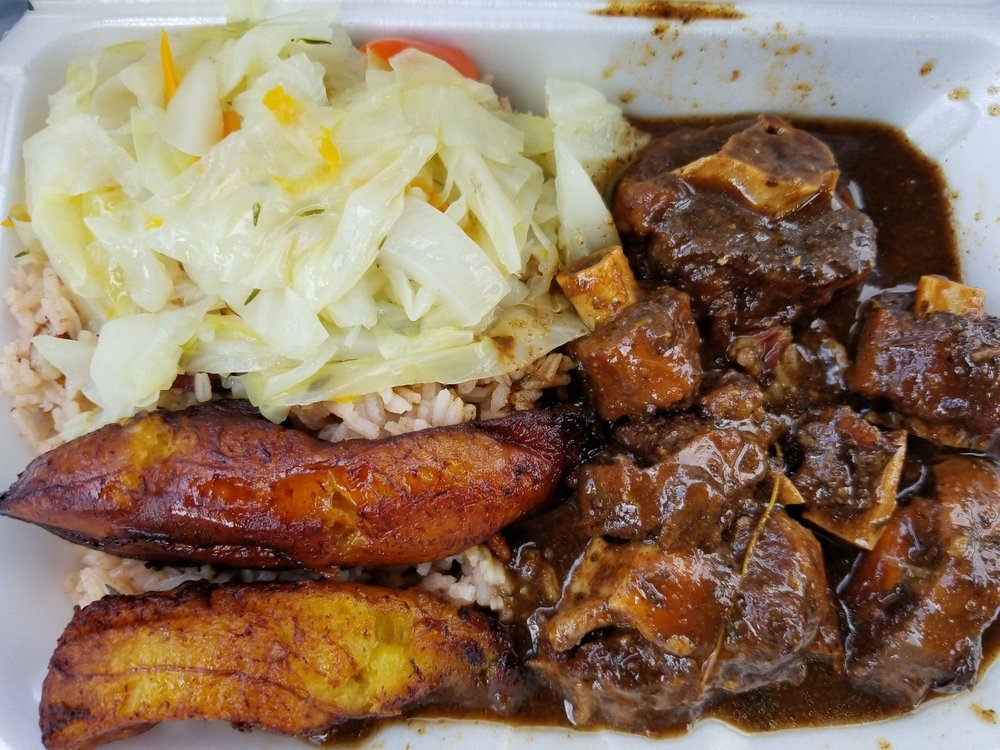 Food from Island Jerk Restaurant