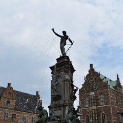 3f12e9b07fc Photo of Frederiksborg Slot - Hillerød, Denmark. Fountain in the Center  Square