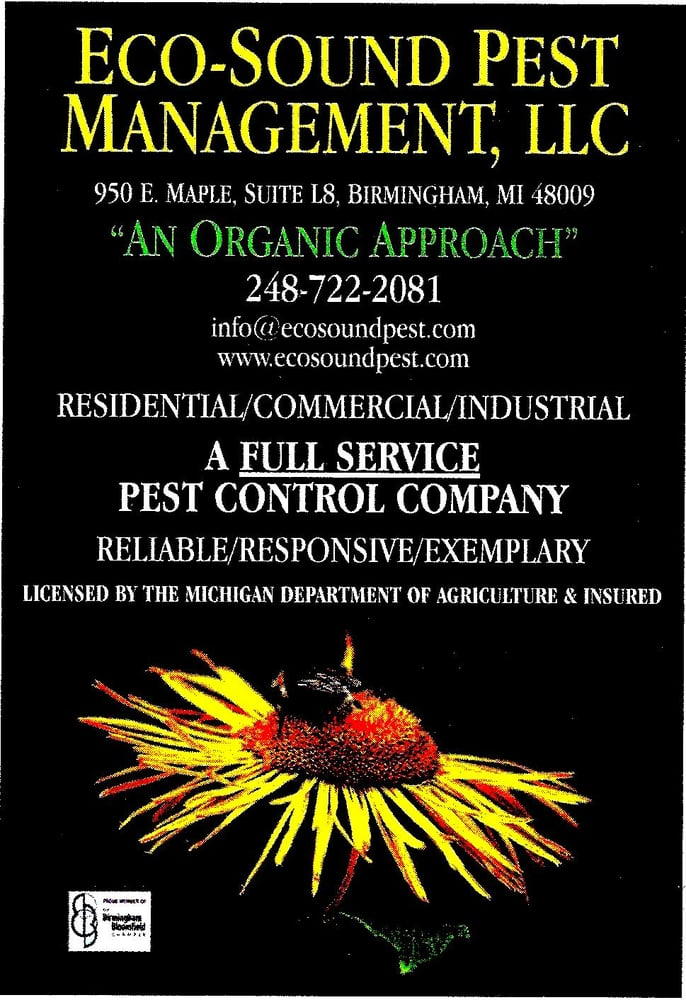 Eco-Sound Pest Management: 950 E Maple Rd, Birmingham, MI