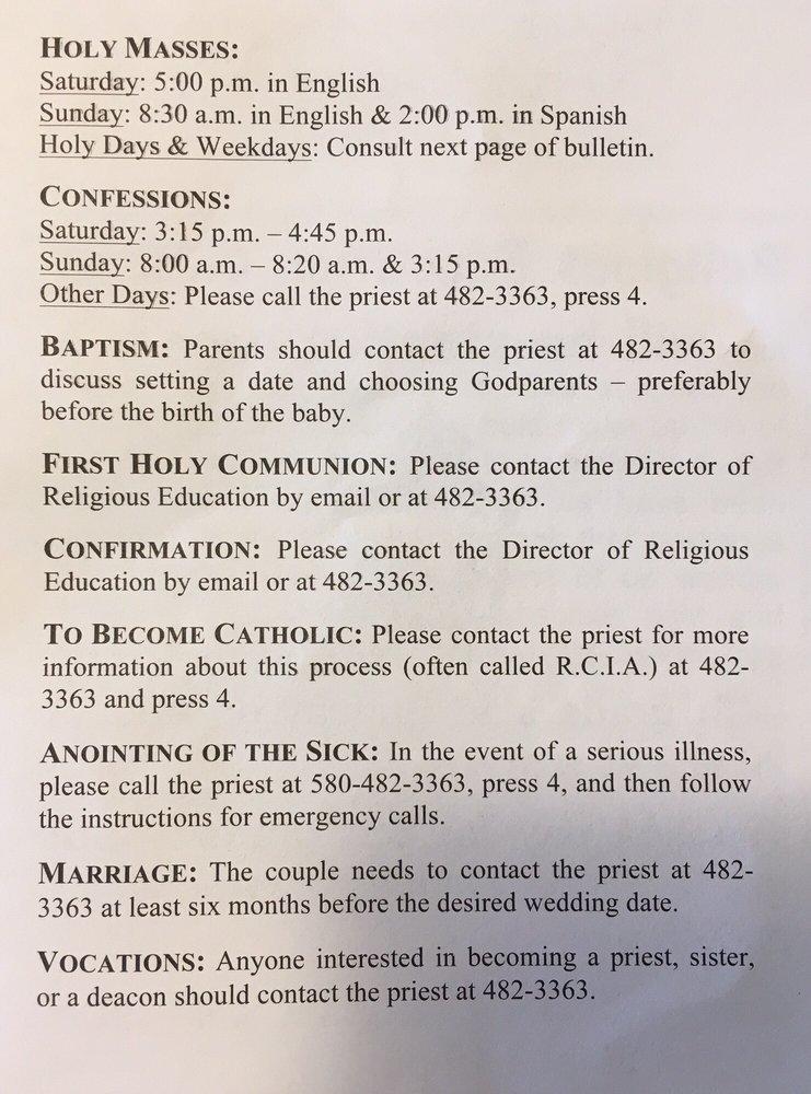 Prince of Peace Catholic Church: 1500 Falcon Rd, Altus, OK