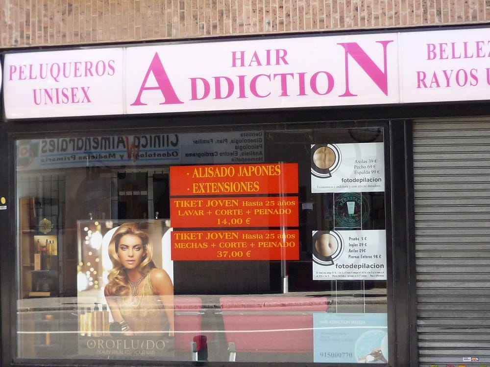 Hair addiction coiffeurs salons de coiffure calle de - Addiction hair salon ...
