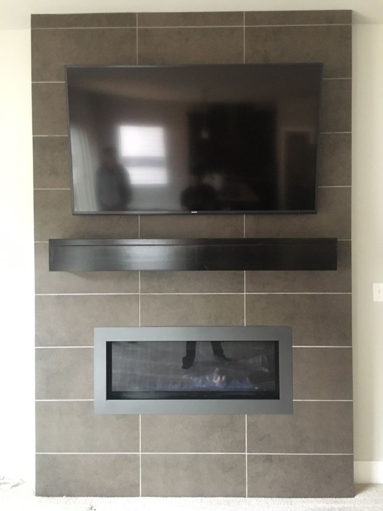 Above Fireplace Television Mount Using A Sanus Advanced