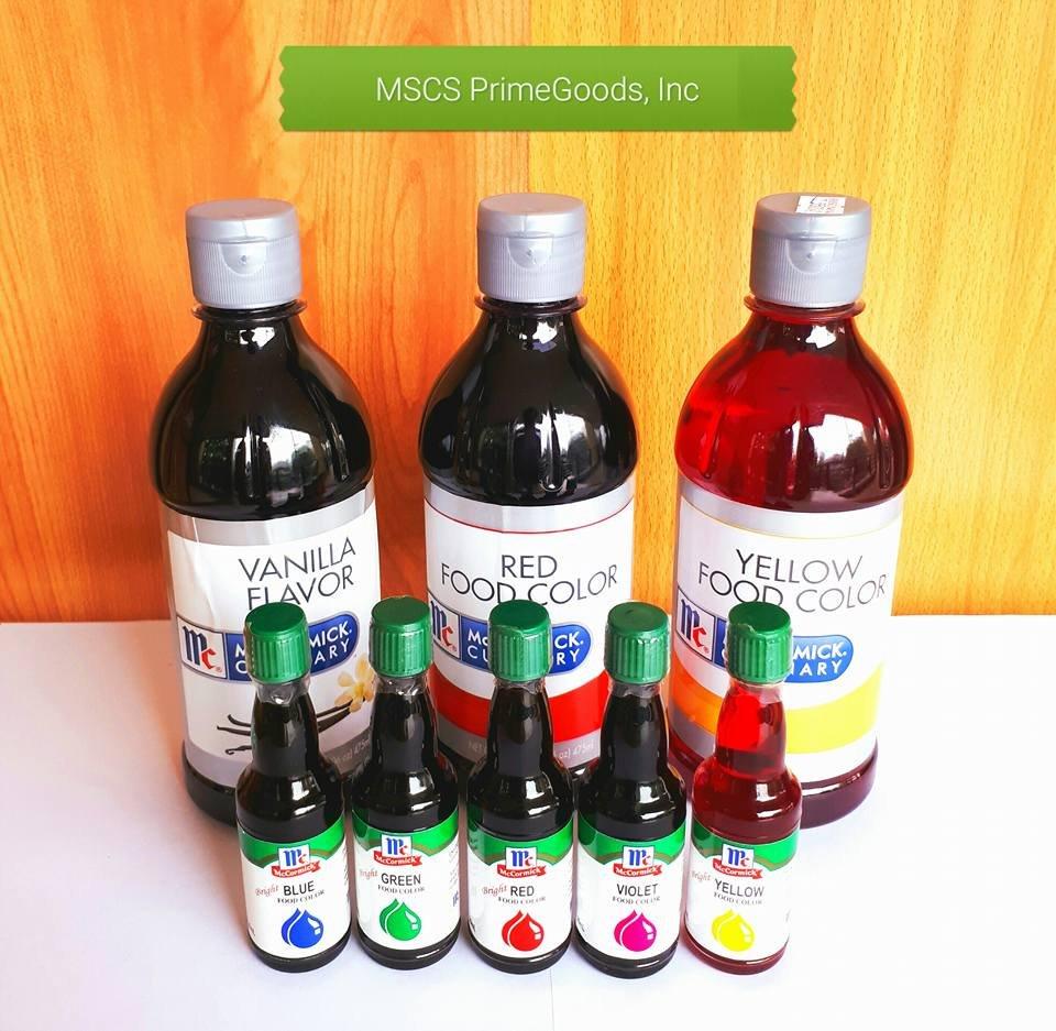 FOOD COLOR. MSCS PrimeGoods, Inc. (MSCS) is a distributor or ...