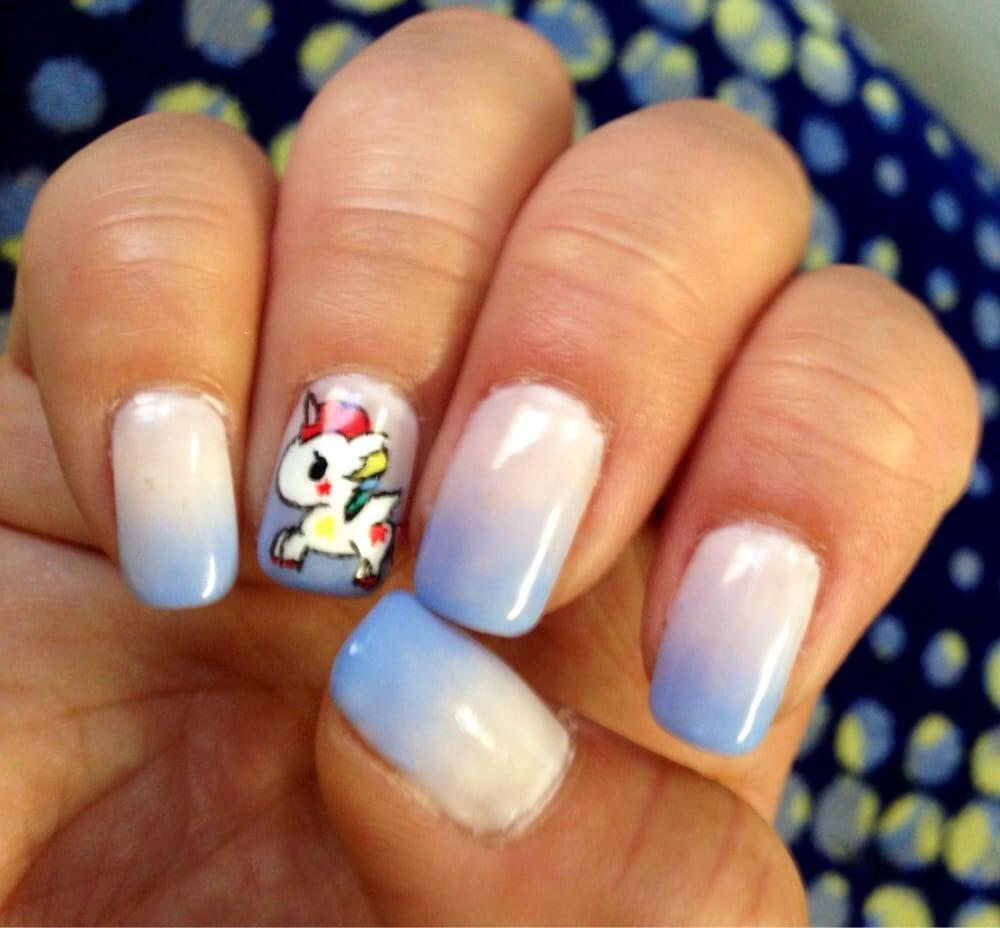 Ombr with tokidoki unicorn nail art it thanks kyoko yelp photo of salon chrie honolulu hi united states ombr with tokidoki unicorn prinsesfo Images