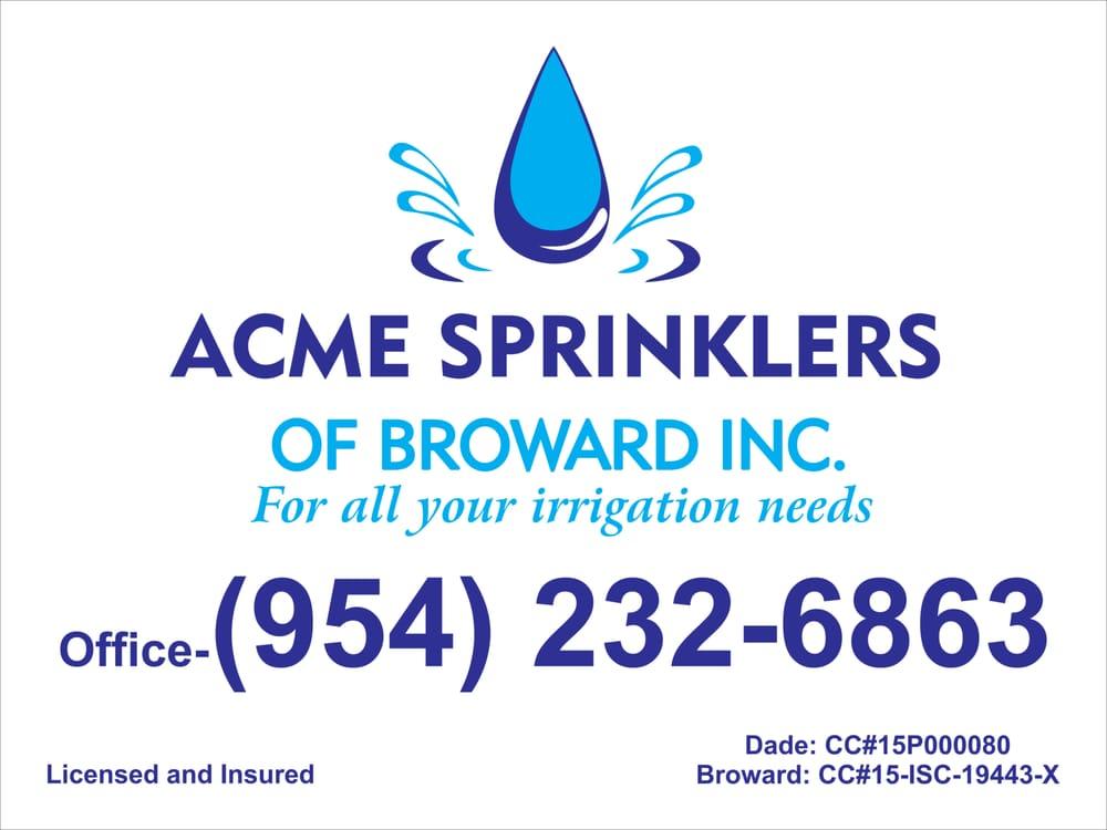 Acme Sprinklers of Broward: Cooper City, FL