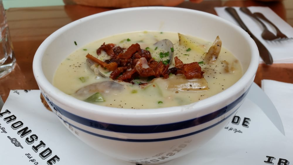 The best clam chowder yelp for Ironside fish and oyster san diego