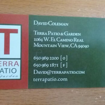 Photo Of Terra Outdoor Living Mountain View Ca United States Business Card