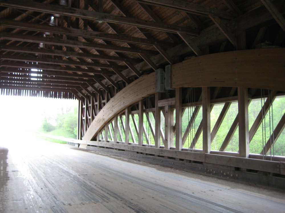 Netcher Road Covered Bridge: 14 W Ashtabula St, North Fairfield, OH