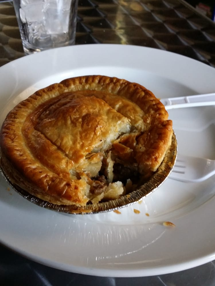 Pepper steak meat pie. Small but packing flavor and pepper ...