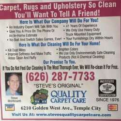 Photo Of Quality Carpet Care  Temple City CA United States