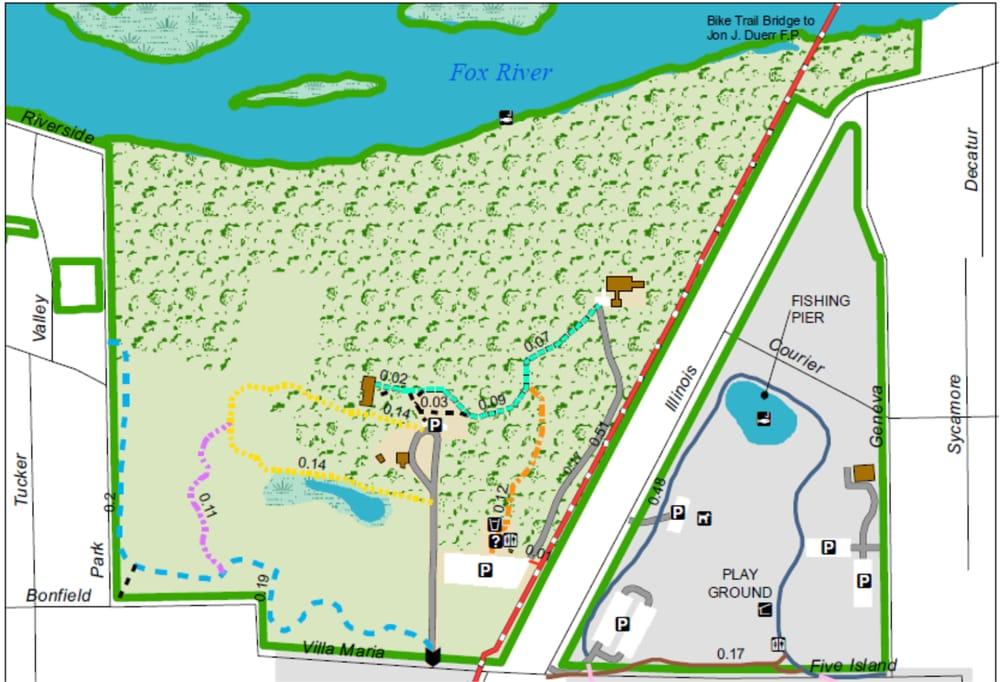 Tekakwitha Woods Forest Preserve: 35W076 Villa Maria Rd, St. Charles, IL