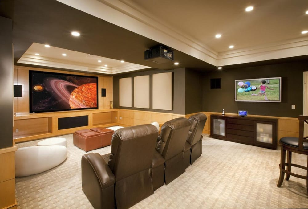We can turn your home into a theater yelp - Great basement designs ...